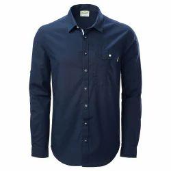 Collar Neck Casual Wear Plain Mens Shirt