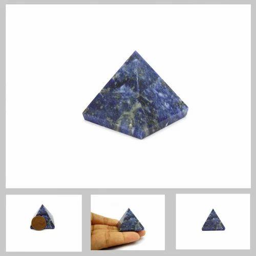 Natural Sodalite Pyramid 25 To 28 Mm For Reiki Healing Crystals Feng Shui  Vastu Aura Energy Chakra