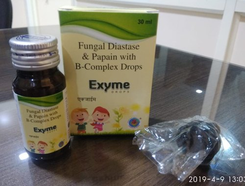 Fungal Diastase Papain B Complex Drops with Monocarton and Droper