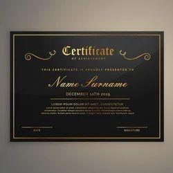 Premium Foil Printed Certificate
