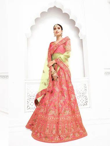 01bc0a04f7 Pure Banarasi Silk Designer Lehenga Saree, Rs 6730 /piece | ID ...