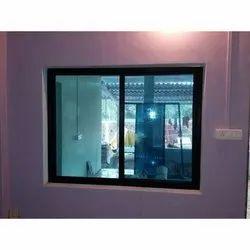 Brown Modern Aluminum Glass Fixed Window