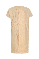 Kaustubh Patient Gown Half Sleeves Half Front Open, Size: Large