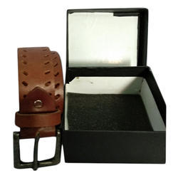 Brown And Brown Leather Belt