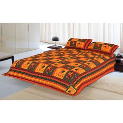 Dashing Look Kantha Work Double Bedsheet