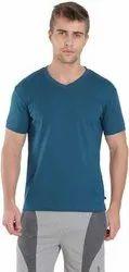 V Neck Plain Cotton T Shirt