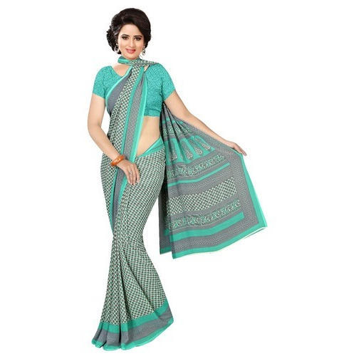 2af34c617331e0 Ladies Printed Chanderi Casual Cotton Floral Print Saree, Rs 500 ...
