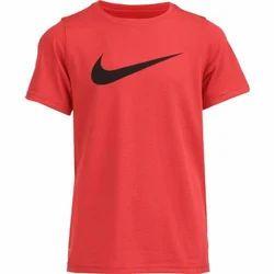 Red Boys Plain T-Shirt