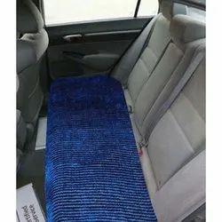 Plain Blue Velvet Car Seat Protector
