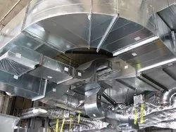 Galvanized Iron Air Conditioning Ducting Service, For Cooling and Exhaust, On Site