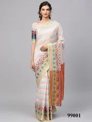 Casual Epitome Cotton Silk Party Wear Saree, with Blouse Piece