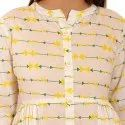 Gathers Cotton Printed Kurti