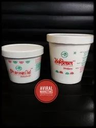 White Plain Paper Container for Sweets packing, Packaging Type: Box, Size: 300 Ml And 500 Ml