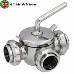 SS Three Way Dairy Valve