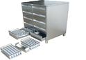 Gray Stainless Steel Punch Trolley