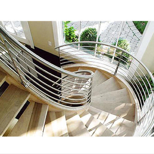 Silver Stainless Steel Staircase Handrail
