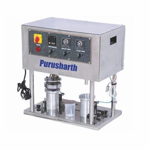 PURUSHARTH Glass Filling and Sealing Machine, Model: GFSM