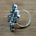 925 Sterling Silver Jewelry Mystic Topaz Gemstone Ring