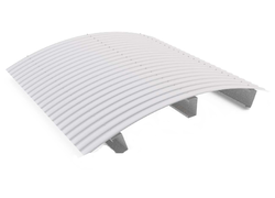 Aluminum White Cladding Curved Sheet, Thickness: 0.35-0.7 mm