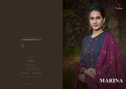 Sudriti Marina Stylish Party Wear Cotton Satin Suit