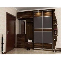Brown Modern Plywood Wardrobe, Size/Dimension: 6 To 8 Feet (height), for Home