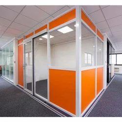 Orange Office Aluminum Partitions