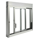 2 Track Aluminum Sliding Window
