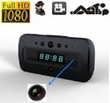 P2P WIFI Black Table Clock HD Hidden Camera