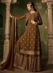 Embroidered Embroidery Work Wedding Wear Sharara Suit