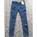Plain Casual Wear Denim Jeans