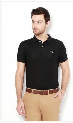 d455798e04798 Boys Cotton Van Heusen Black T Shirt