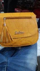Leather Yellow Handbag