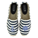 Women Stripe Canvas Shoes, Size: 36-41