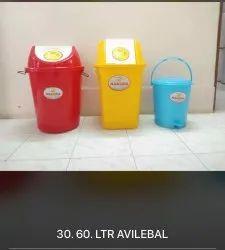 Round Plastic Dust Swing Bin 50Ltr 60Ltr & 70Ltr