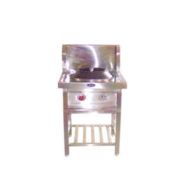 Silver Stainless Steel Two Burner (Chinese), For Restaurant