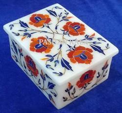 White Marble Stone Pill Box
