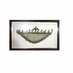Golden Brass Dokra Frames, For Decoration, Size: 25x15