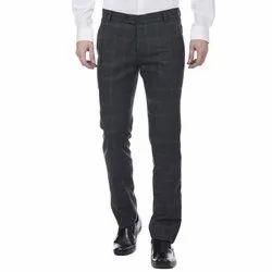 Poly Viscose Black Fine Men''s Trouser