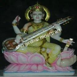Marble Sarswati Ji Statue