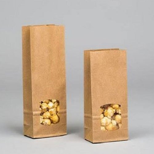 Brown Kraft Paper Food Packaging Bakery Bag, Storage Capacity: 0.5 - 5 Kg