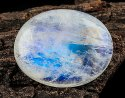 17Cts Blue Rainbow Oval Moonstone Cabochon