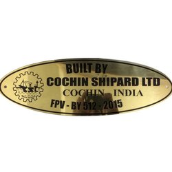 Oval Shaped Brass Name Plate
