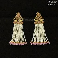Traditional Antique Rice Pearls Earrings