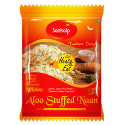 Heat & Serve Indian Aloo Stuffed Naan, Packaging Type: Packet, Pack Size: 600g (5 Pcs)