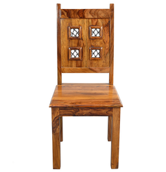 Natural Living Jali Block Wooden Dining Chair RCHR0951