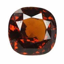 Orangey Red Cushion Unheated Gomed Stone