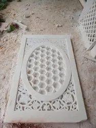 Rectangular White Marble Jali