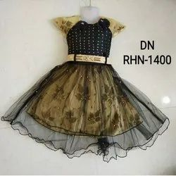 Printed Stitch DN RHN-1400 Kids Wear Frock, Size: 20*20 Inches