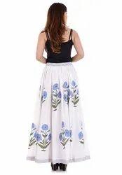 Block Printed Long Skirt