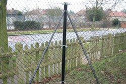 Chain Link Fencing With MS Angle